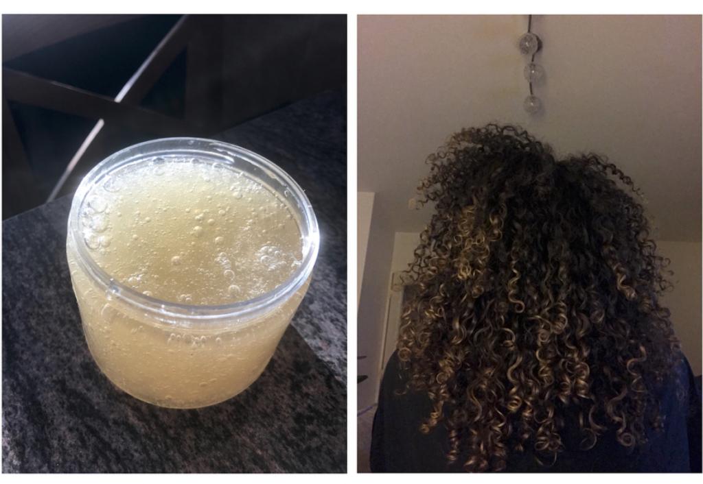 Résultats après application gel de lin
